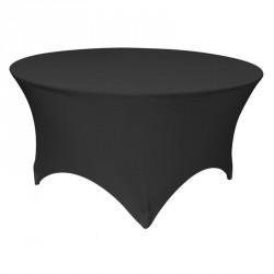 Obrusy elastyczny na stól bankietowy srednica 120 kolor czarny