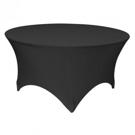 Obrusy elastyczny na stól bankietowy srednica 180 kolor czarny