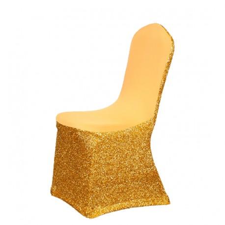 Fantastyczny pokrowce na krzesla,stretch,uniwersalne,even-tovnia,,dekoracja,złoty UW51
