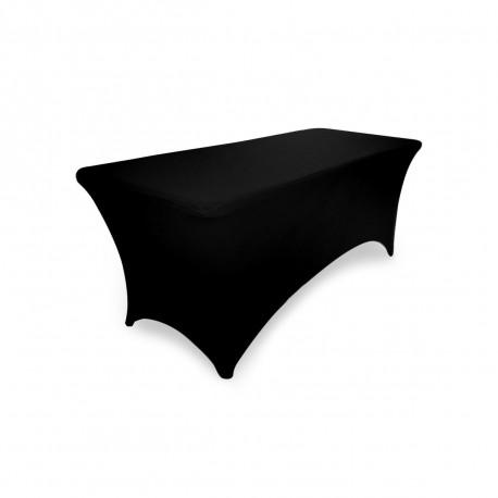 Pokrowiec elastyczny na stół prostokątny cateringowy 183 cm x 74 cm kolor czarny