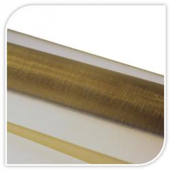 Rolka organza 37 cm x 9 m kolor złoty