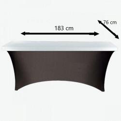 Topper na blat elastyczny na stół prostokątny cateringowy 183 cm x 74 cm biały