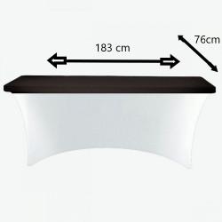 Pokrowiec elastyczny na stół prostokątny cateringowy 183 cm x 74 cm czarny