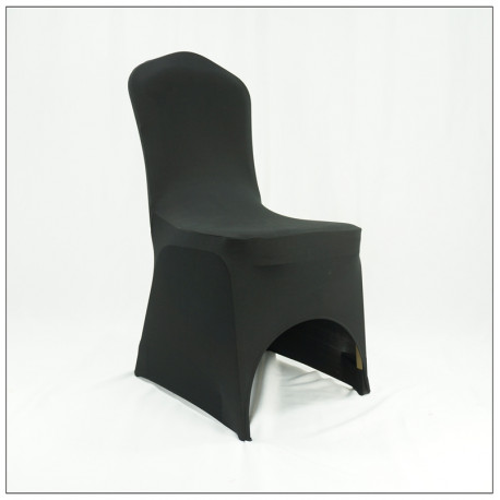 """Pokrowiec uniwersalny na krzesło spandex """"Lizbona"""" czarny"""