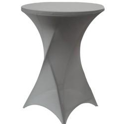 Pokrowce na stoliki koktajlowe,barowe szare
