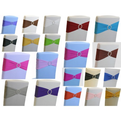Elastyczne szarfy z broszka na krzesla rozne kolory