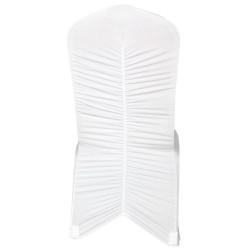 """Pokrowiec uniwersalny na krzesło spandex """"Paris"""" biały"""